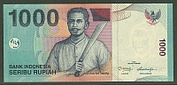 Indonesia, P-141-NEW Polymer Issue, 1,000 Rupiah, 2013, Gem CU
